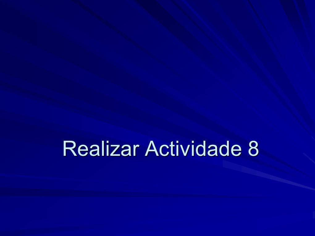 Realizar Actividade 8