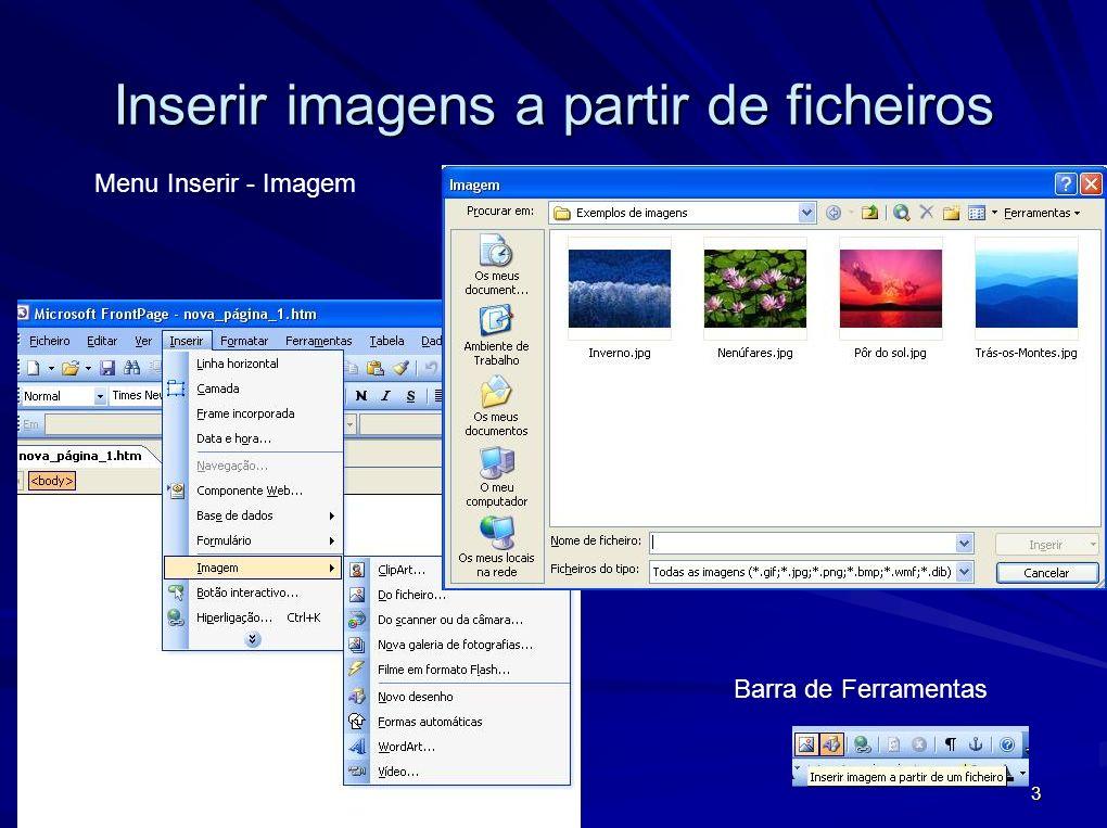 Inserir imagens a partir de ficheiros