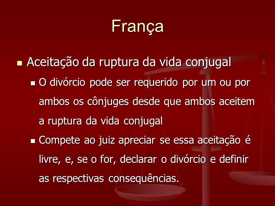 França Aceitação da ruptura da vida conjugal