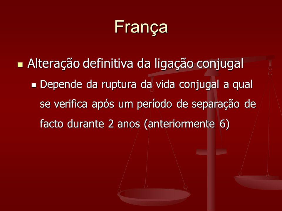 França Alteração definitiva da ligação conjugal