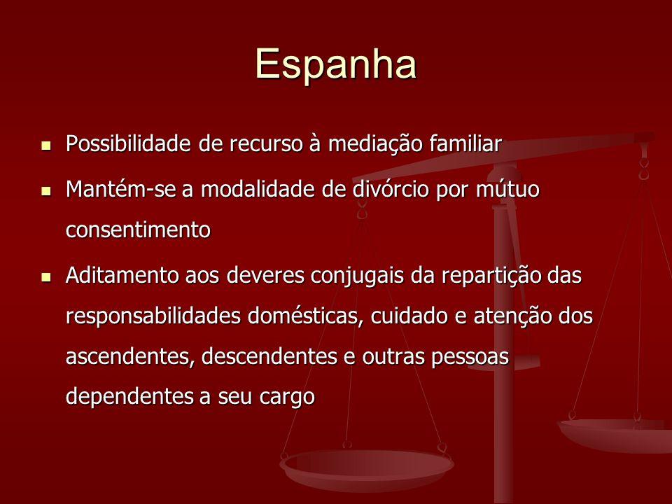 Espanha Possibilidade de recurso à mediação familiar