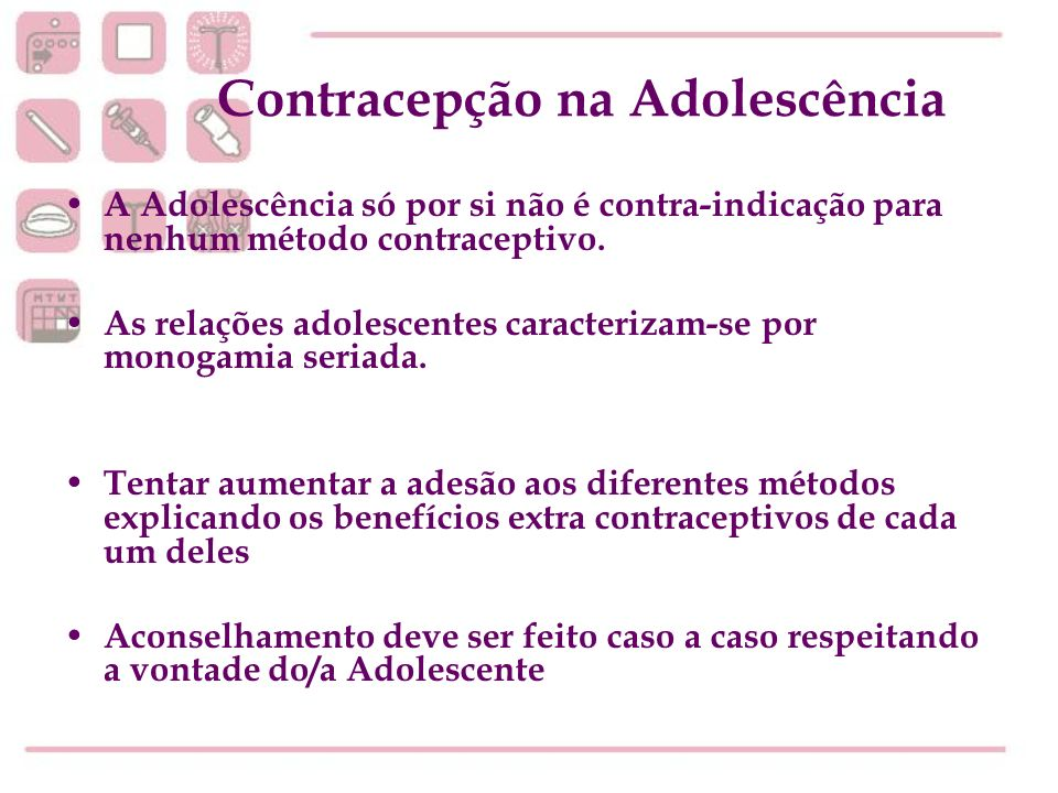 Contracepção na Adolescência