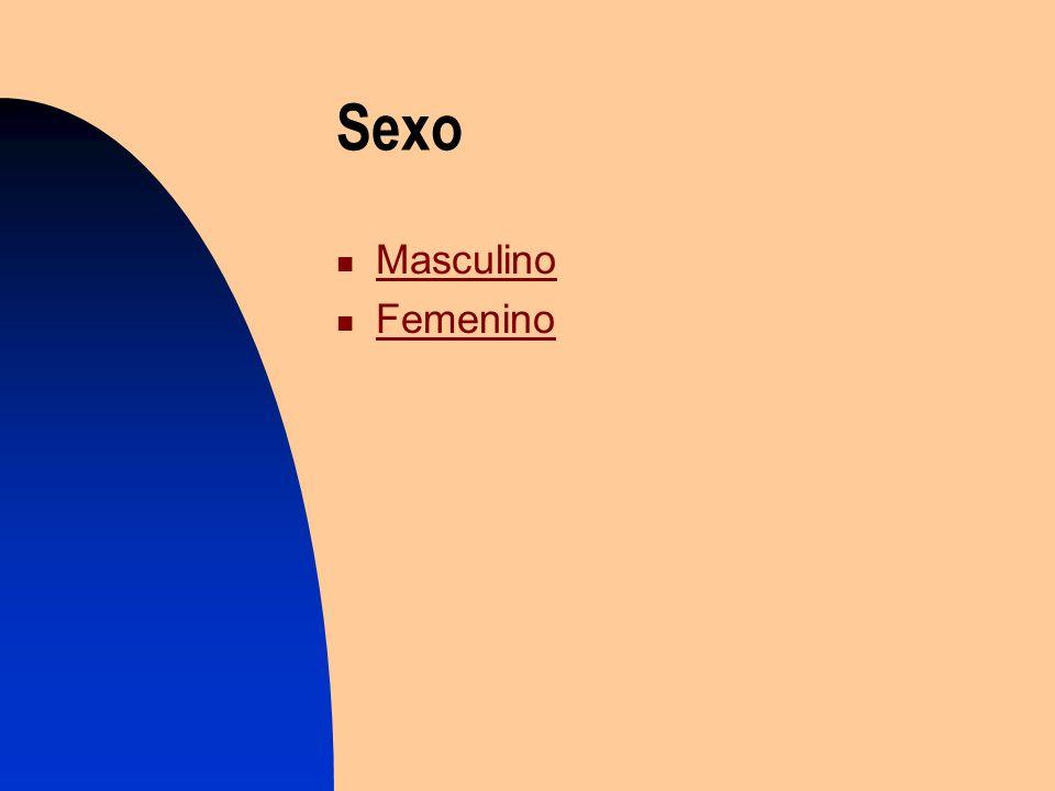 Sexo Masculino Femenino