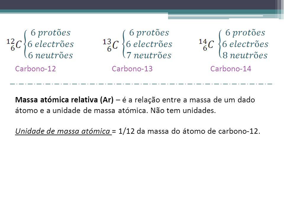 Carbono-12 Carbono-13 Carbono-14