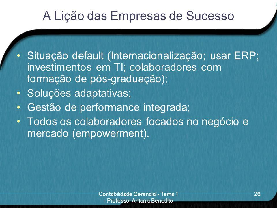 A Lição das Empresas de Sucesso