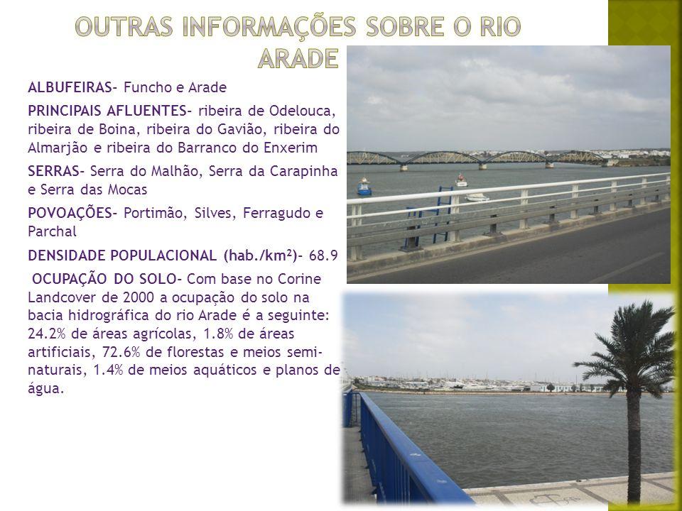 Outras informações sobre o rio arade