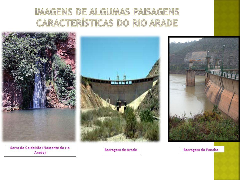 Imagens de algumas paisagens características do rio arade