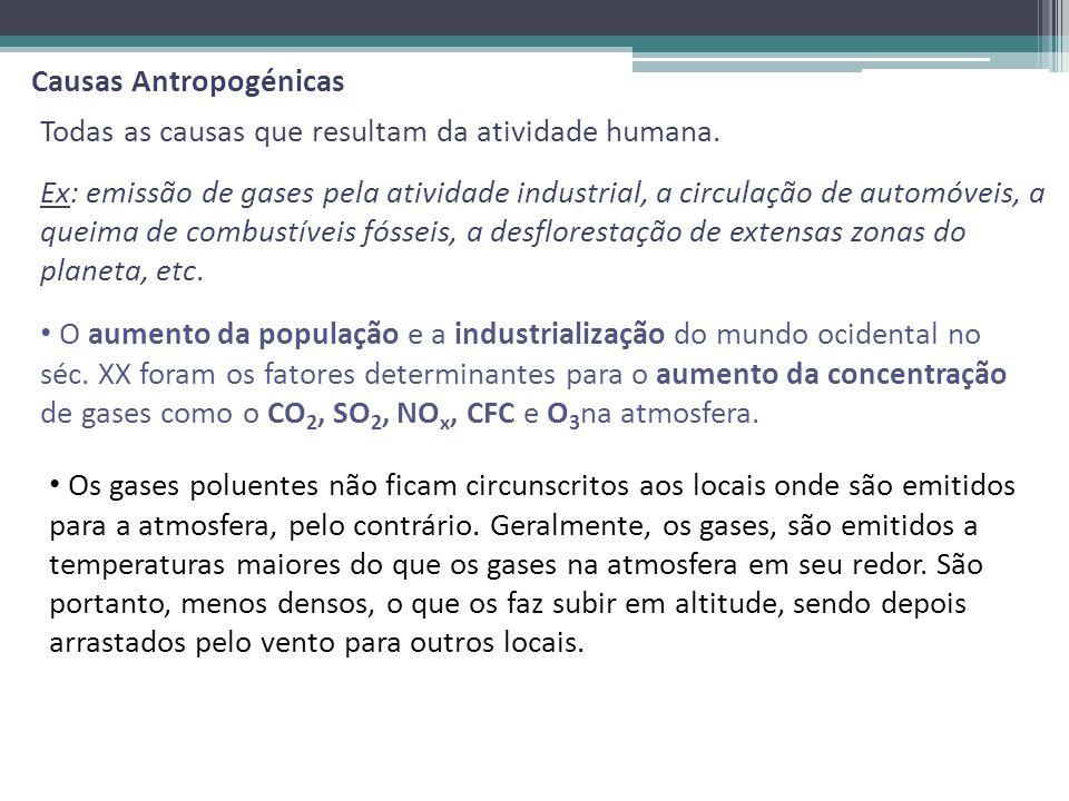 Causas Antropogénicas