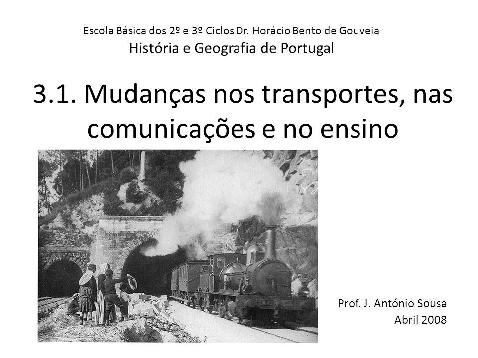 3.1. Mudanças nos transportes, nas comunicações e no ensino