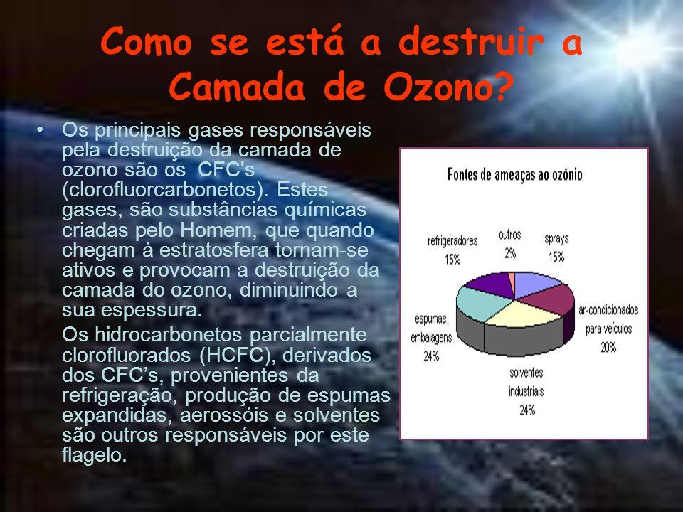 Como se está a destruir a Camada de Ozono