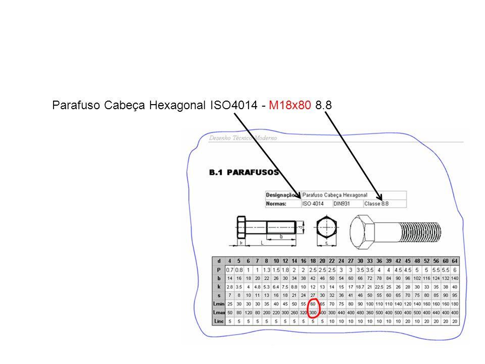 Parafuso Cabeça Hexagonal ISO4014 - M18x80 8.8