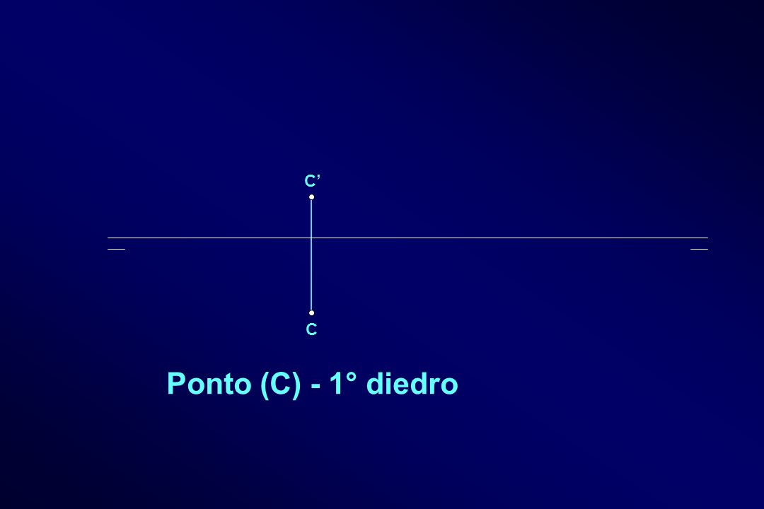 C' C Ponto (C) - 1° diedro