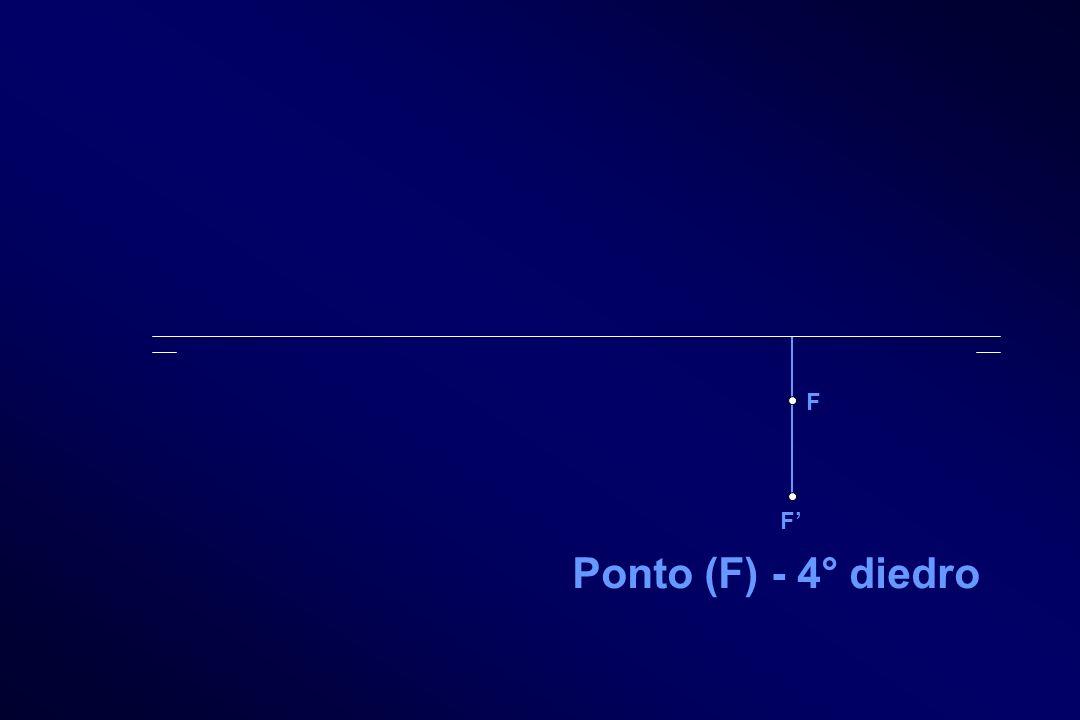F F' Ponto (F) - 4° diedro