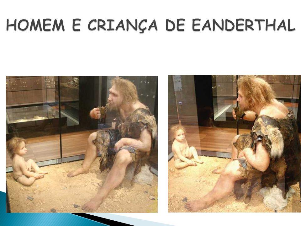 HOMEM E CRIANÇA DE EANDERTHAL