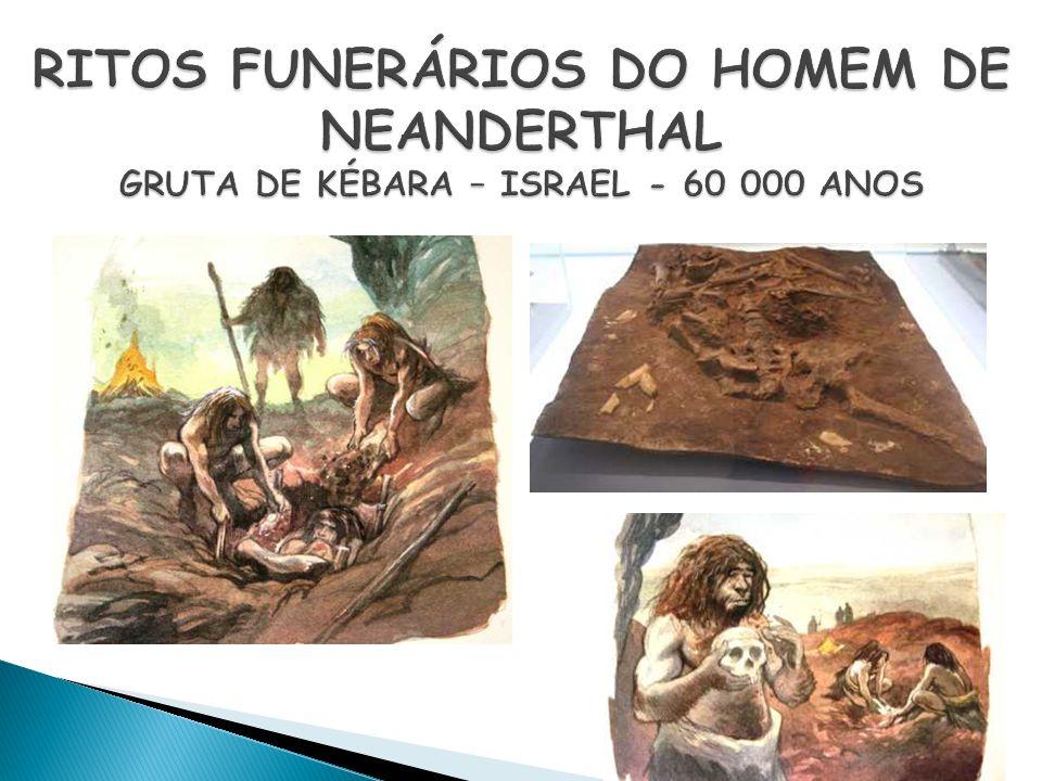 RITOS FUNERÁRIOS DO HOMEM DE NEANDERTHAL GRUTA DE KÉBARA – ISRAEL - 60 000 ANOS