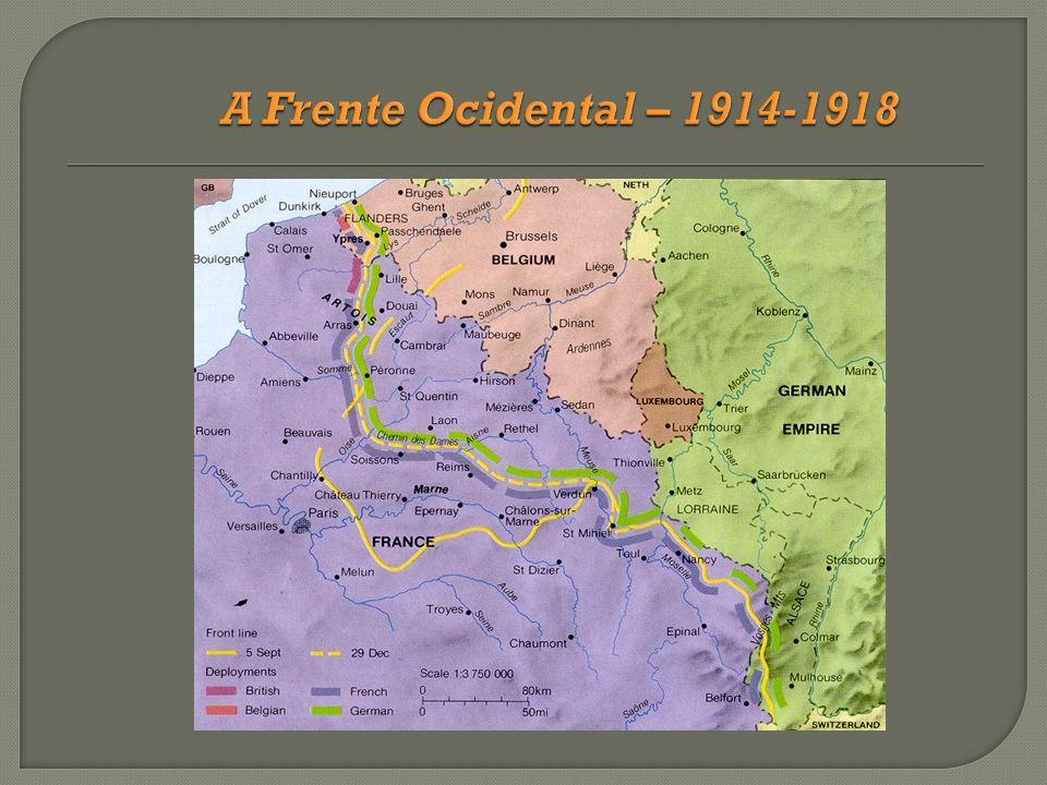 A Frente Ocidental – 1914-1918