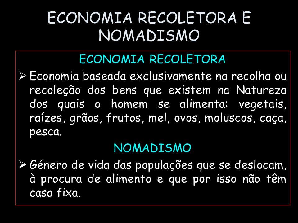 ECONOMIA RECOLETORA E NOMADISMO