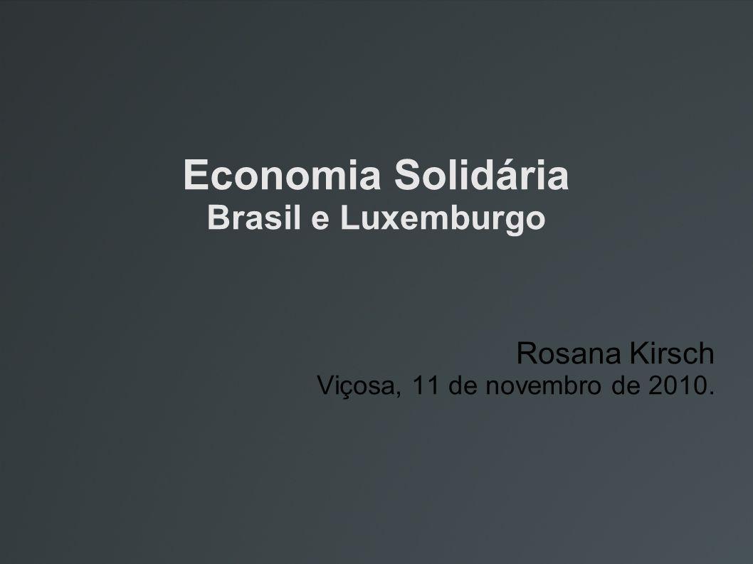Economia Solidária Brasil e Luxemburgo