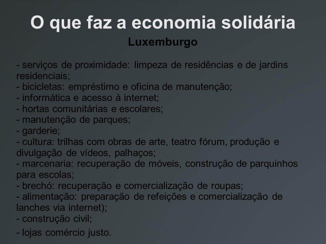 O que faz a economia solidária