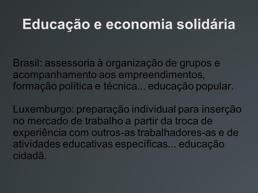 Educação e economia solidária