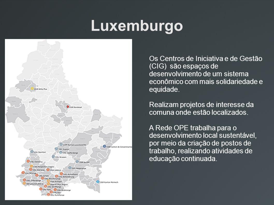 Luxemburgo Os Centros de Iniciativa e de Gestão (CIG) são espaços de desenvolvimento de um sistema econômico com mais solidariedade e equidade.