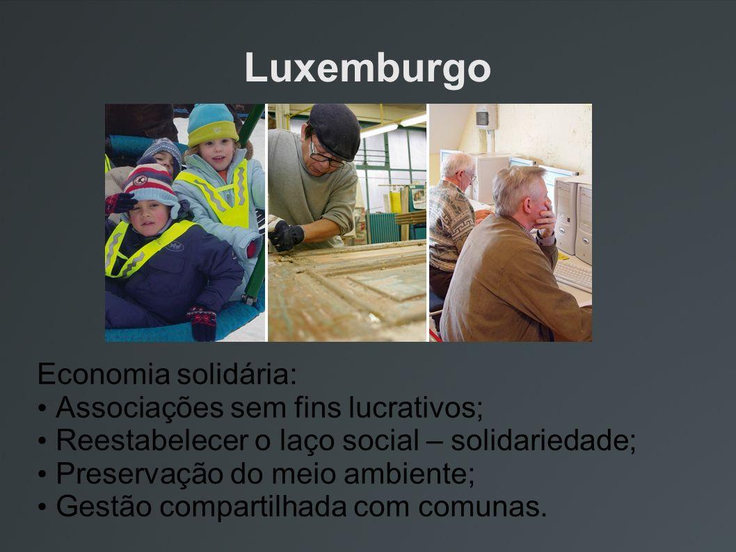 Luxemburgo Economia solidária: Associações sem fins lucrativos;