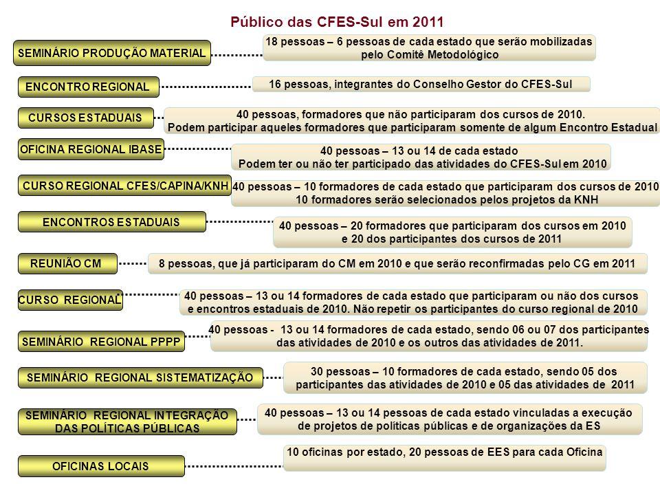 Público das CFES-Sul em 2011