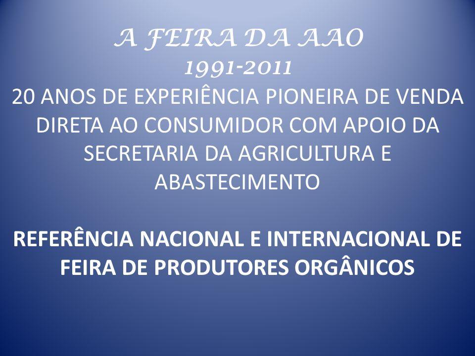 REFERÊNCIA NACIONAL E INTERNACIONAL DE FEIRA DE PRODUTORES ORGÂNICOS