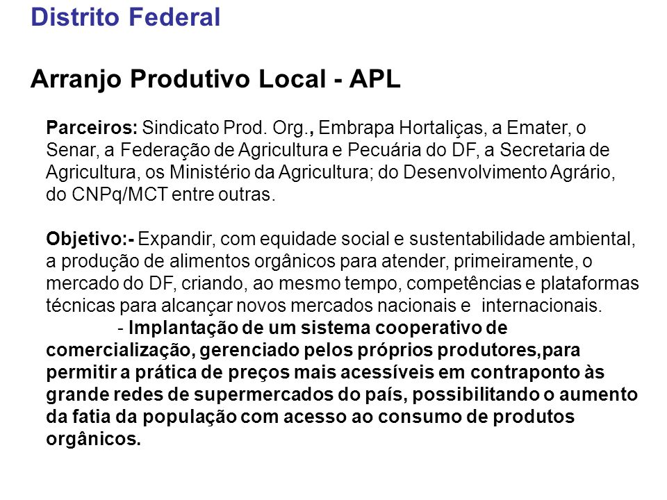 Arranjo Produtivo Local - APL