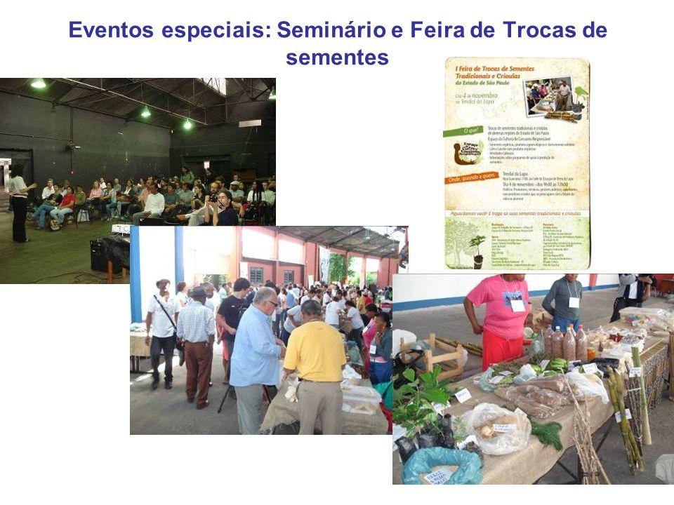Eventos especiais: Seminário e Feira de Trocas de sementes