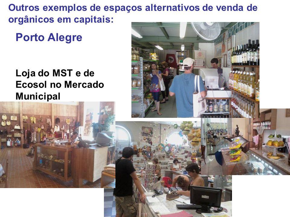 Outros exemplos de espaços alternativos de venda de orgânicos em capitais: