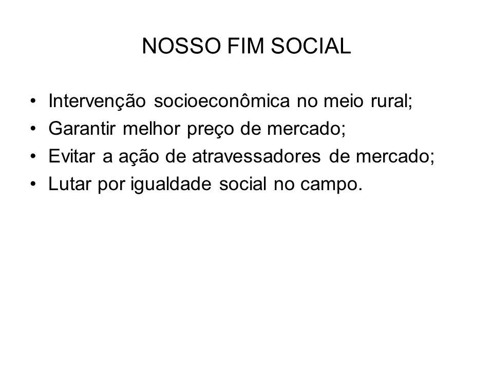 NOSSO FIM SOCIAL Intervenção socioeconômica no meio rural;