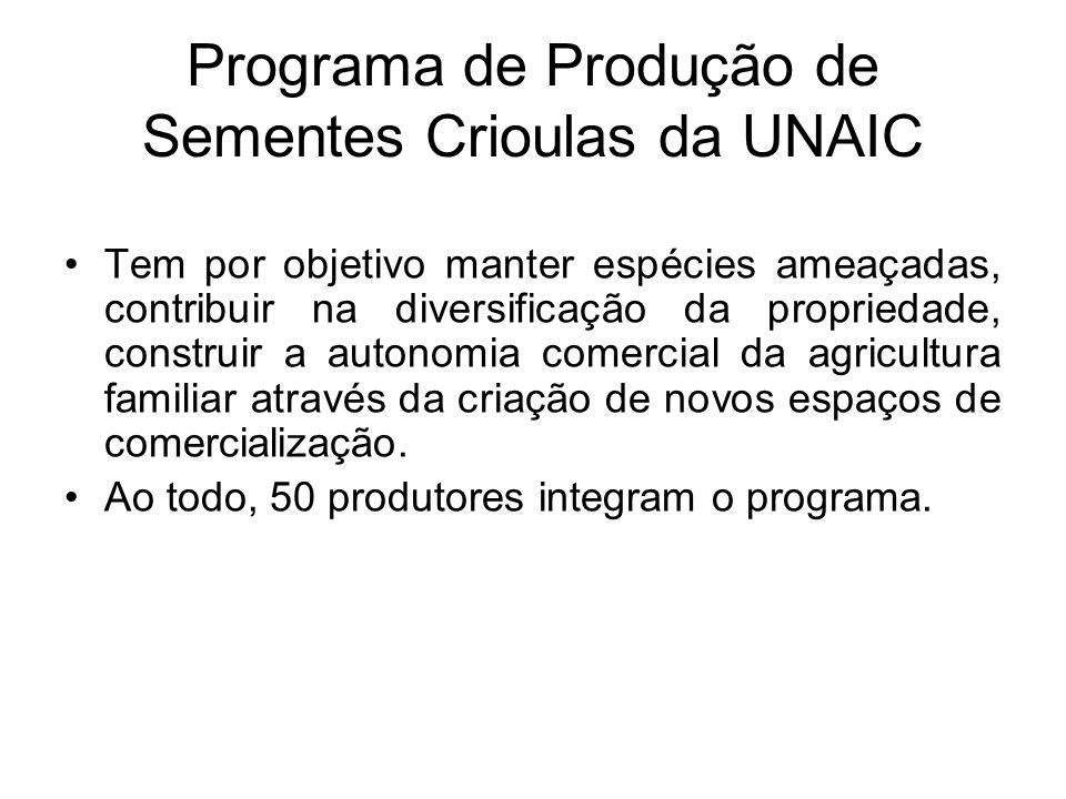 Programa de Produção de Sementes Crioulas da UNAIC