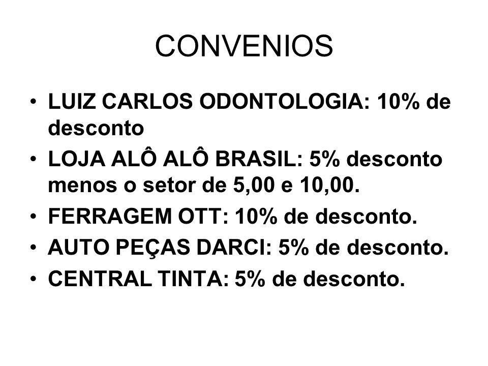 CONVENIOS LUIZ CARLOS ODONTOLOGIA: 10% de desconto