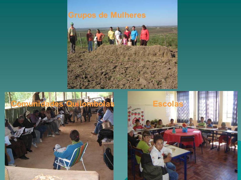 Grupos de Mulheres Comunidades Quilombolas Escolas