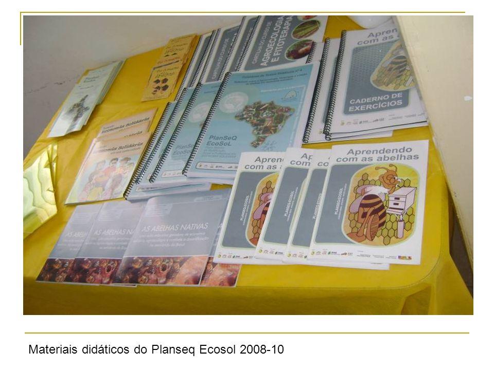 Materiais didáticos do Planseq Ecosol 2008-10