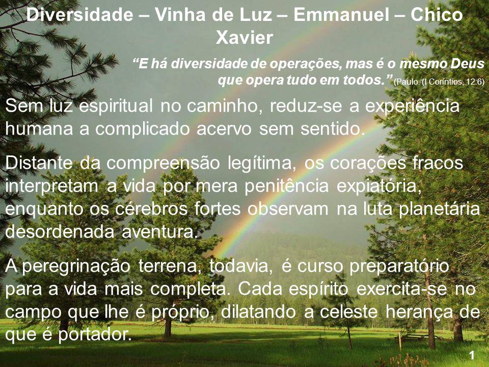 Diversidade – Vinha de Luz – Emmanuel – Chico Xavier