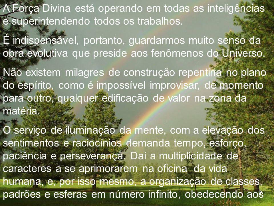 A Força Divina está operando em todas as inteligências e superintendendo todos os trabalhos.