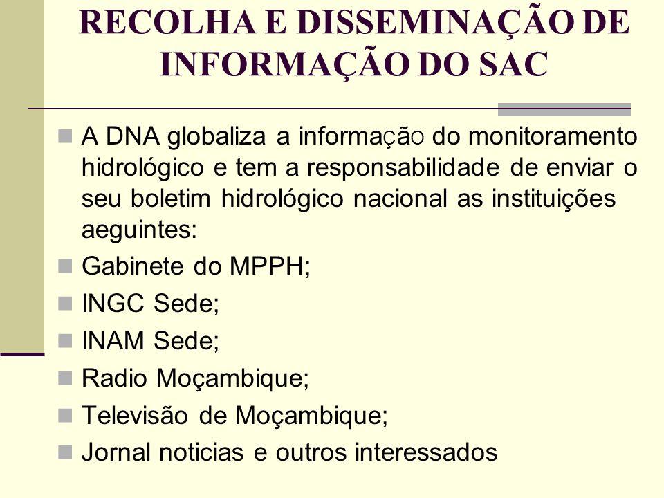 RECOLHA E DISSEMINAÇÃO DE INFORMAÇÃO DO SAC