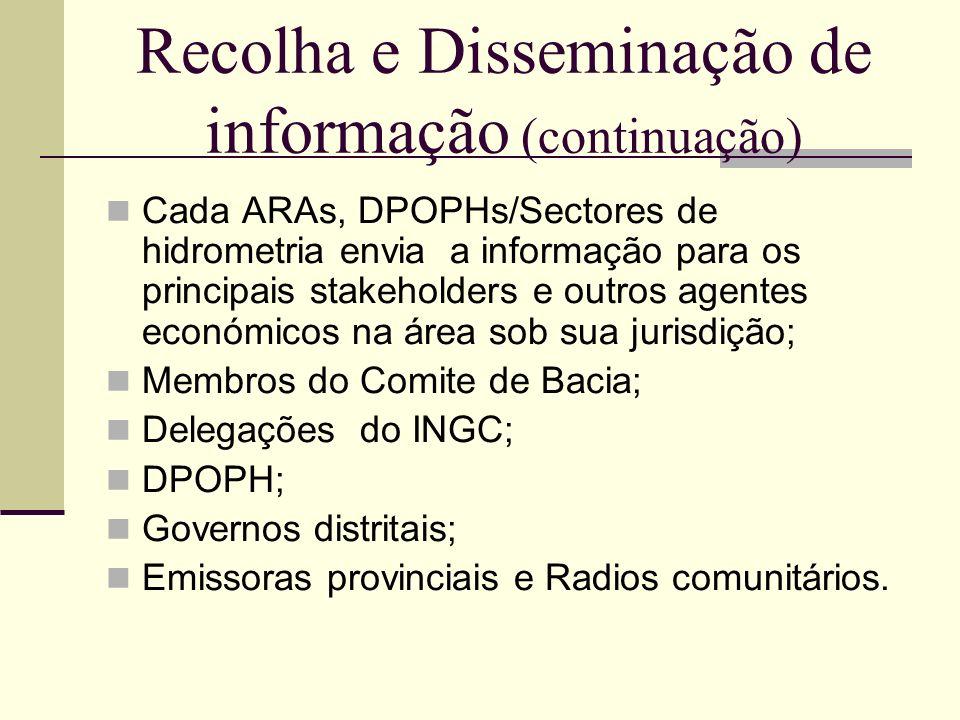 Recolha e Disseminação de informação (continuação)