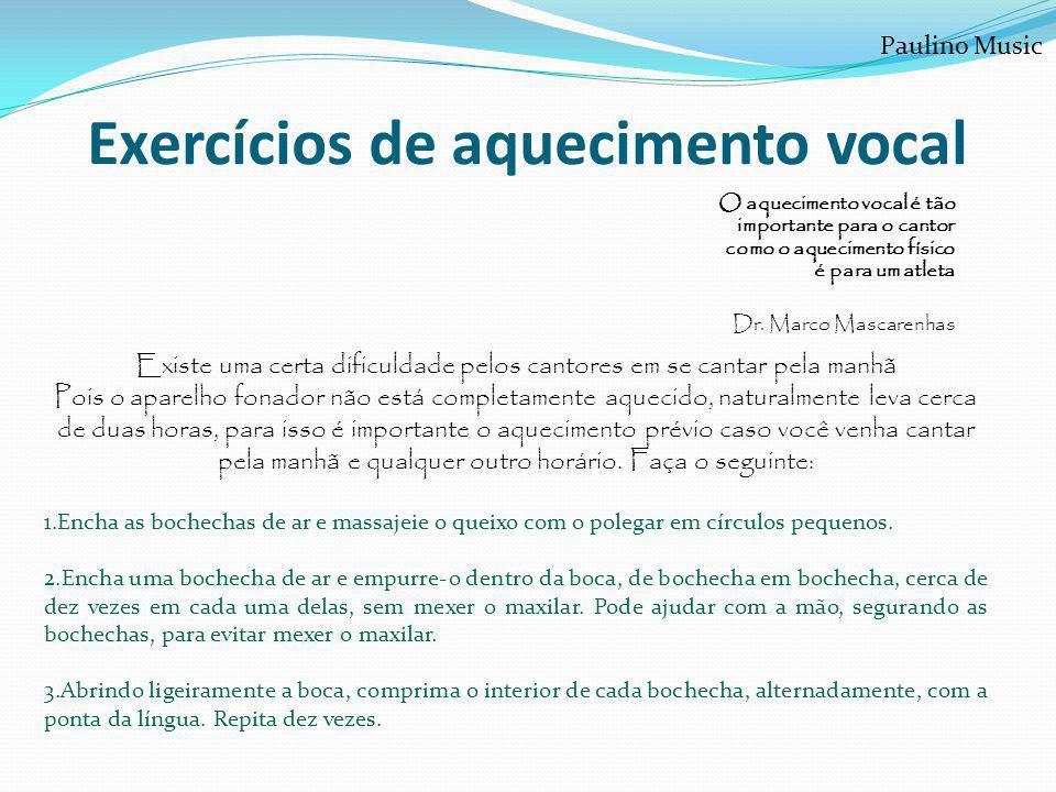 Exercícios de aquecimento vocal