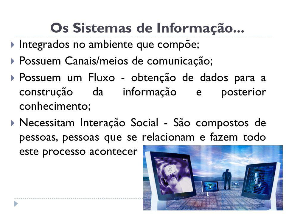 Os Sistemas de Informação...