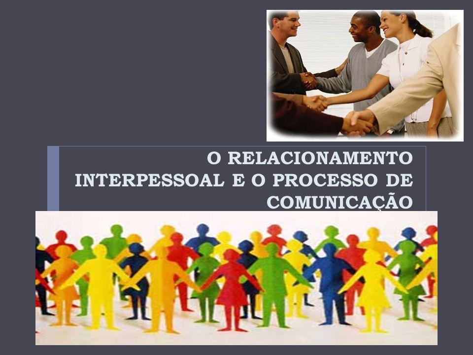 O RELACIONAMENTO INTERPESSOAL E O PROCESSO DE COMUNICAÇÃO
