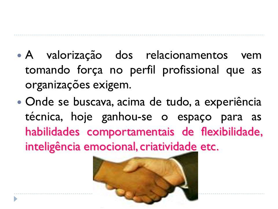 A valorização dos relacionamentos vem tomando força no perfil profissional que as organizações exigem.