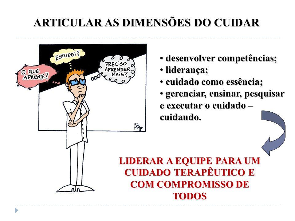 ARTICULAR AS DIMENSÕES DO CUIDAR