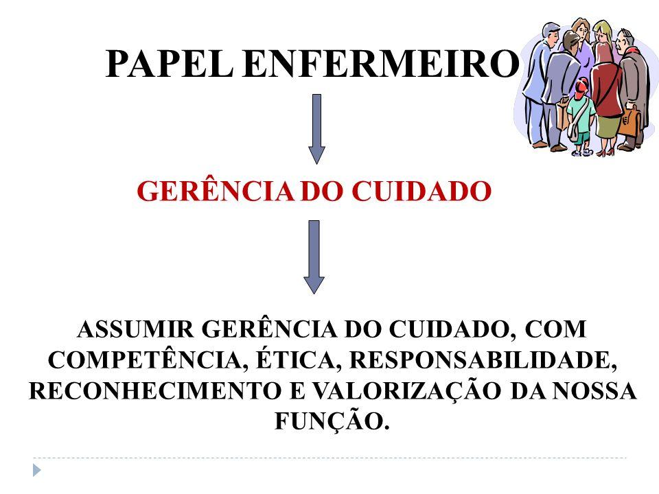 PAPEL ENFERMEIRO GERÊNCIA DO CUIDADO