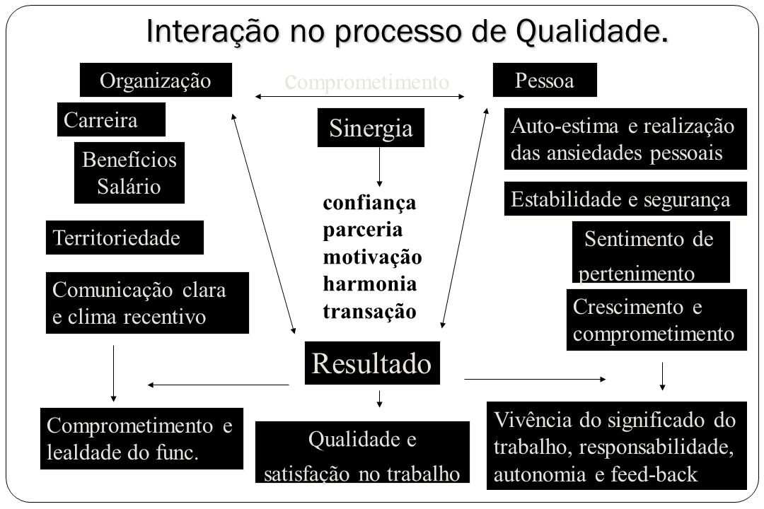 Interação no processo de Qualidade.