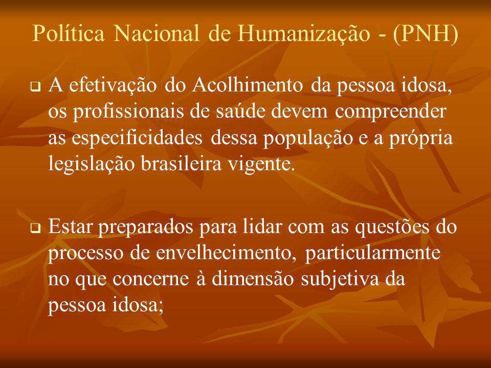 Política Nacional de Humanização - (PNH)