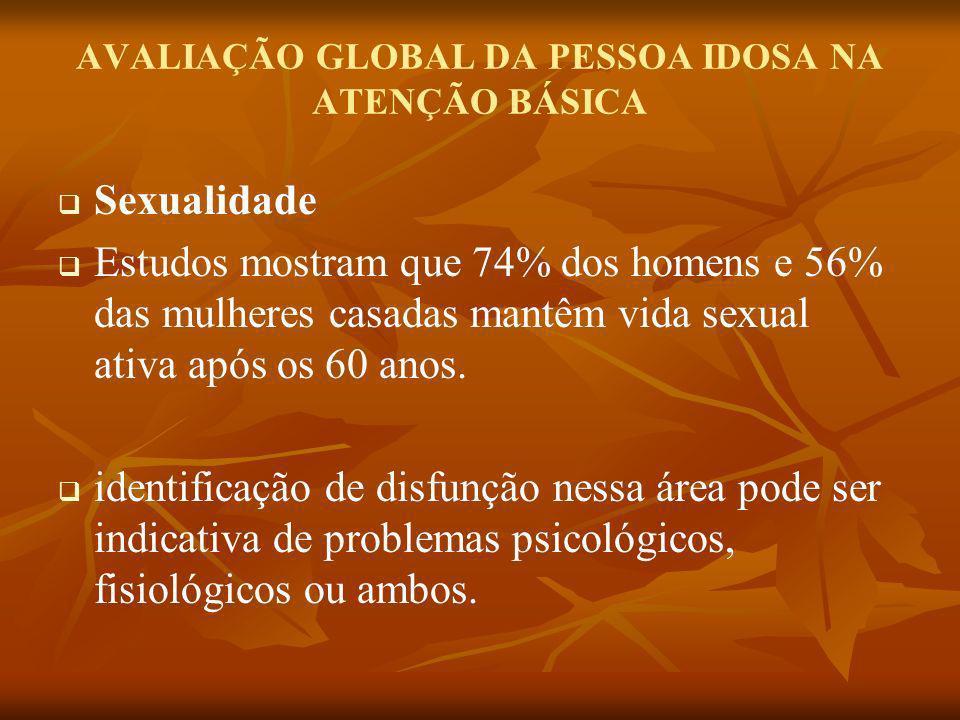 AVALIAÇÃO GLOBAL DA PESSOA IDOSA NA ATENÇÃO BÁSICA