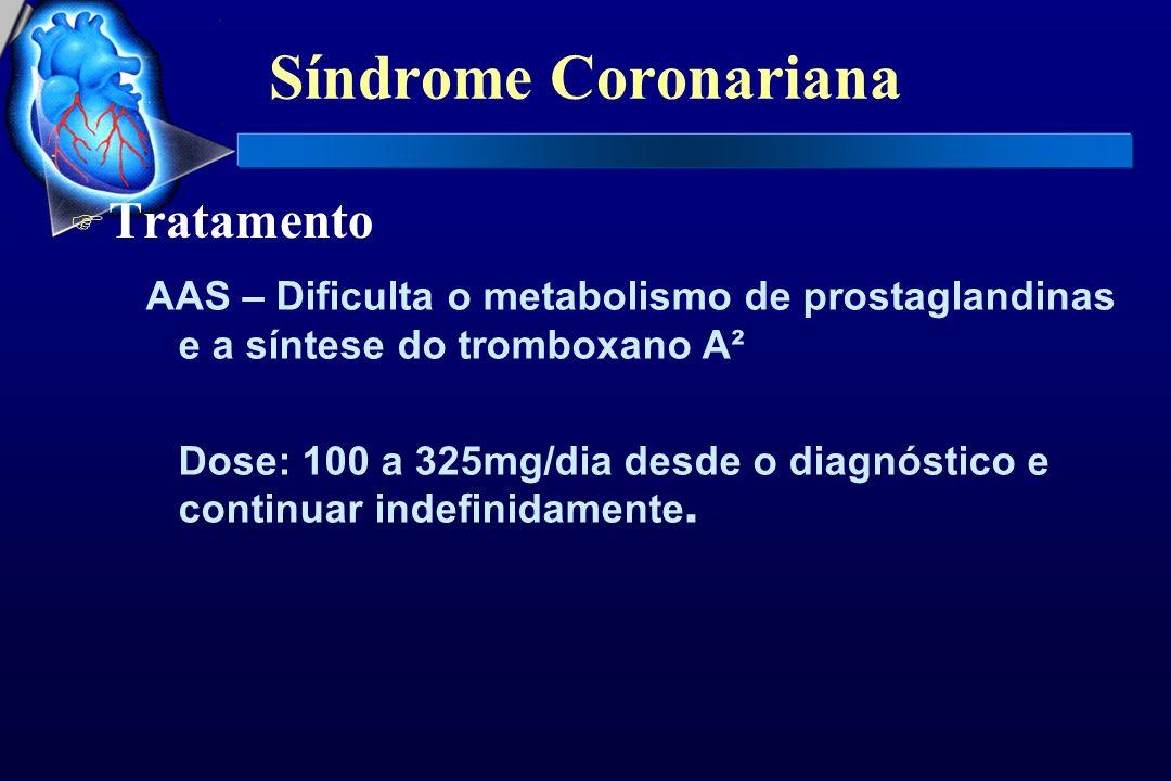 Síndrome Coronariana Tratamento